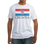 Vintage Croatia Fitted T-Shirt