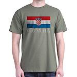 Vintage Croatia Dark T-Shirt