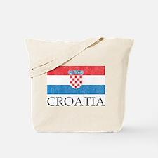 Vintage Croatia Tote Bag