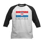 Vintage Croatia Kids Baseball Jersey