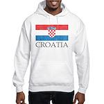Vintage Croatia Hooded Sweatshirt