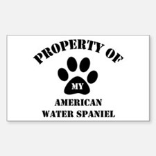 My American Water Spaniel Rectangle Decal
