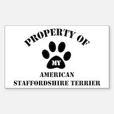 My American Staffordshire Ter Sticker (Rectangular