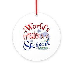 World's Greatest Skier Ornament (Round)