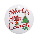 World's Greatest Coach Ornament (Round)