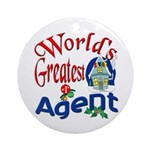 World's Greatest Agent Ornament (Round)