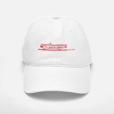 1959 T Bird Convertible Red Baseball Baseball Cap