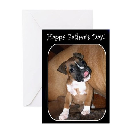 Happy Father's Day Boxer Greeting Card