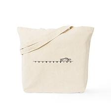 1955 T Bird Top on Script BLK Tote Bag