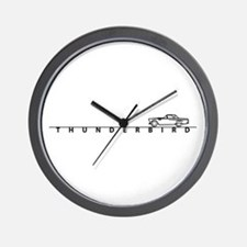 1955 T Bird Top on Script BLK Wall Clock