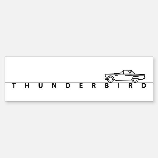 1955 T Bird Top on Script BLK Bumper Bumper Bumper Sticker