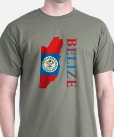 Map Of Belize T-Shirt