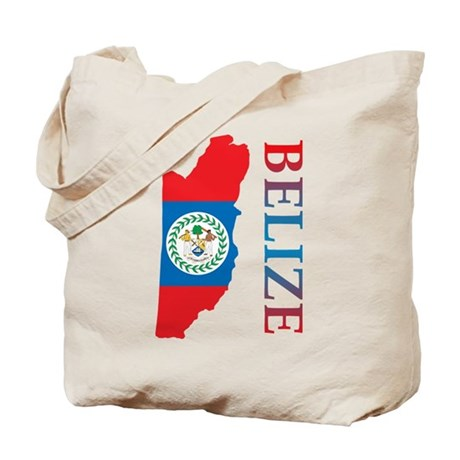 Map Of Belize Tote Bag