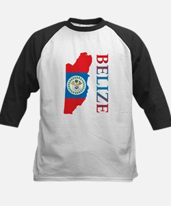 Map Of Belize Kids Baseball Jersey