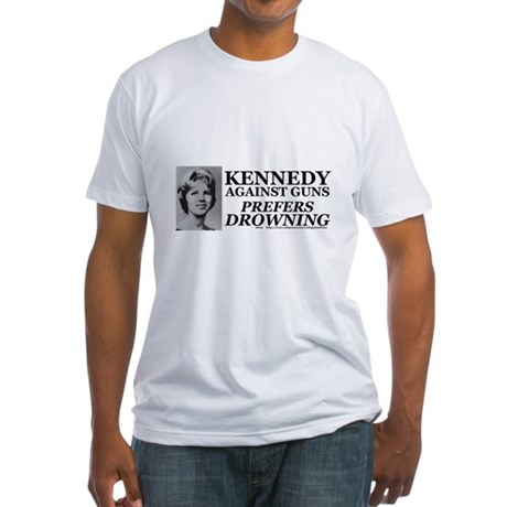 Kennedy Against Guns Fitted T-Shirt
