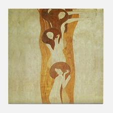 Gustav Klimt Art Tile Coaster The Beethoven Frieze