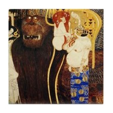 Gustav Klimt Art Tile Coaster Beethoven Frieze