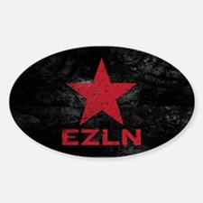Zapatista Army Oval Decal