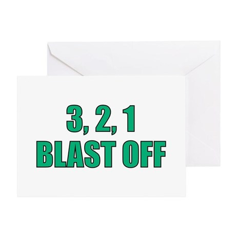 Blast Off Greeting Card