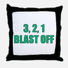 Blast Off Throw Pillow