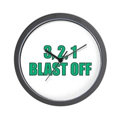 Blast Off Wall Clock