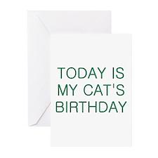 Cat's Birthday Greeting Cards (Pk of 20)