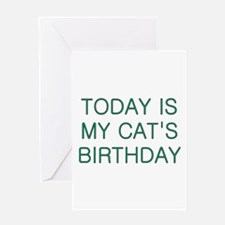 Cat's Birthday Greeting Card