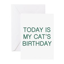 Cat's Birthday Greeting Cards (Pk of 10)