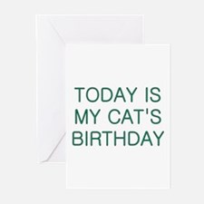 Cat's Birthday Greeting Cards (Pk of 10)