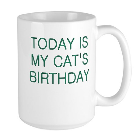 Cat's Birthday Large Mug