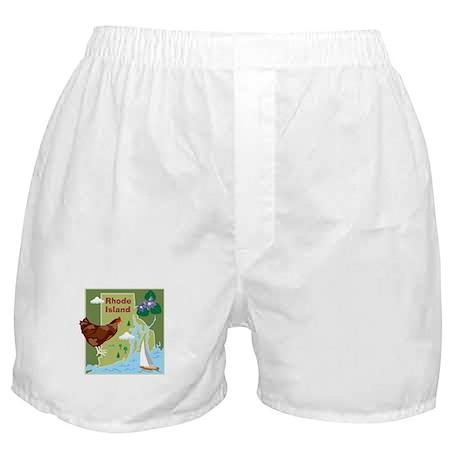 Rhode Island Map Boxer Shorts