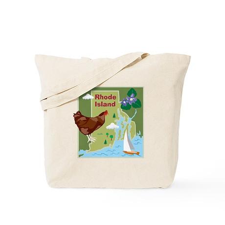 Rhode Island Map Tote Bag