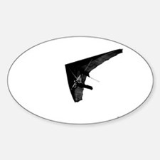 Hang Gliding Oval Decal