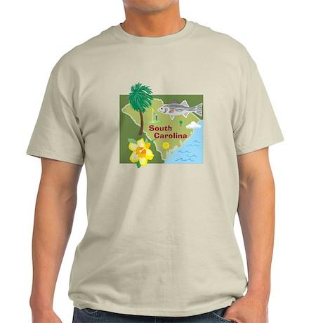 South Carolina Map Light T-Shirt