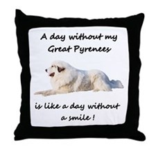 Without my Great Pyrenees Throw Pillow