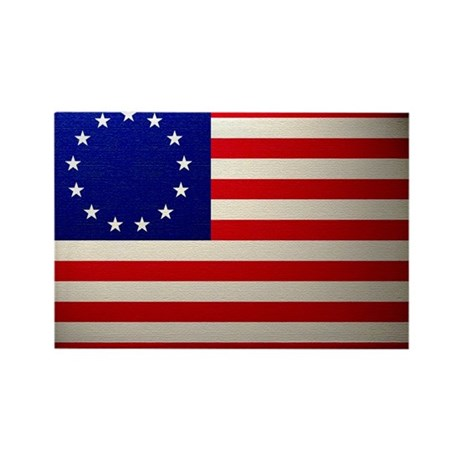 Betsy Ross Flag Rectangle Magnet (10 pack)