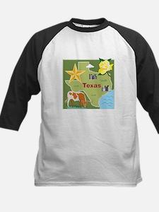 Texas Map Kids Baseball Jersey