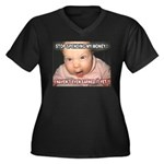 Angry Baby Women's Plus Size V-Neck Dark T-Shirt