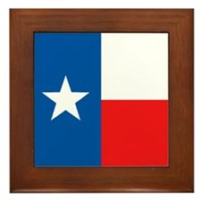 Flag of Texas Framed Tile