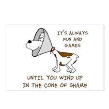 Cone of Shame Postcards (Package of 8)