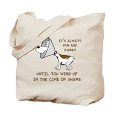 Cone of Shame Tote Bag