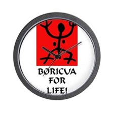 Boricua II Wall Clock