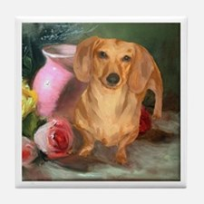 Vase Doxie Tile Coaster