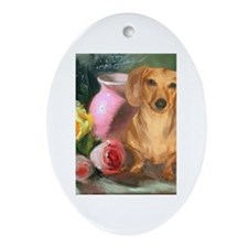 Vase Doxie Oval Ornament