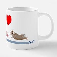 I Love Corgis with Leashes 20 oz Ceramic Mega Mug