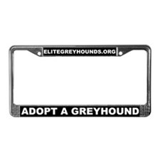 Elite Greyhound Adoption License Plate Frame