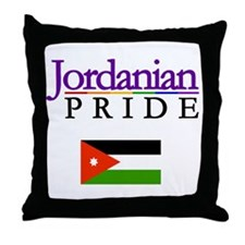 Jordanian Pride Flag Throw Pillow