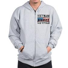 Vietnam War Veteran Zip Hoodie