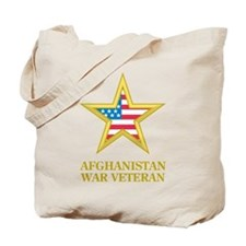 Afghanistan War Veteran Tote Bag