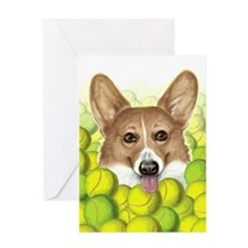 """Trigger"" - Tennis Corgi Greeting Card"
